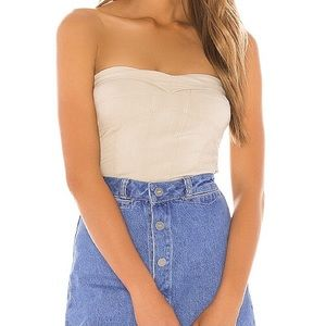 Free People You Too Tube Top in Sand Sz XS